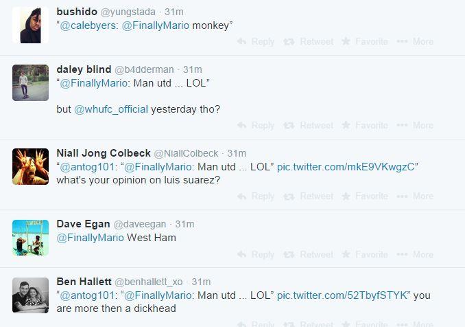 بالصور بالوتيلي يسخر من خسارة مانشستر يونايتد اليوم 21-9-2014