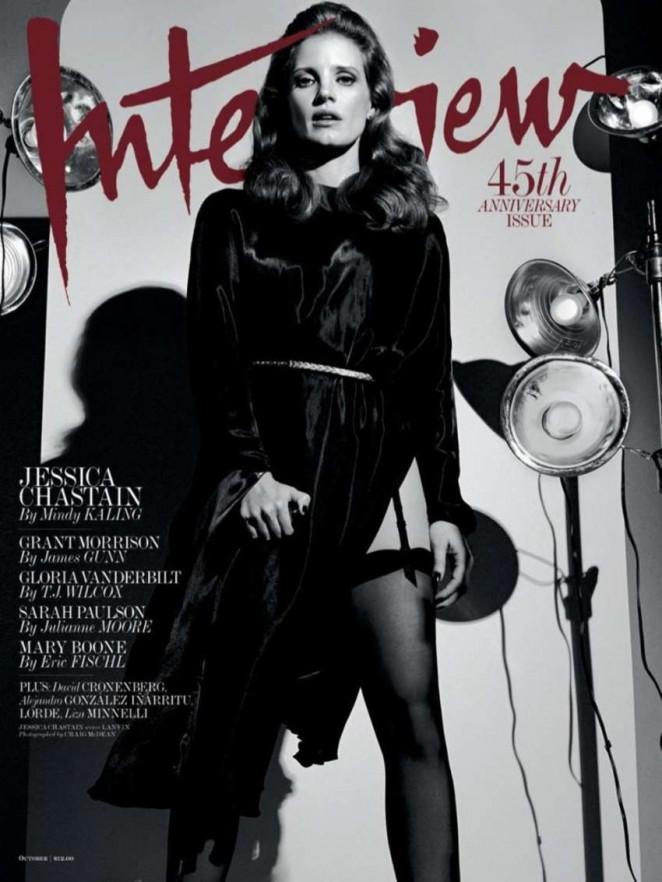 صور جيسيكا شاستاين على  غلاف مجلة مقابلة أكتوبر 2014