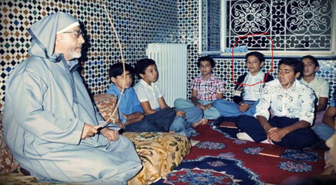 صورة الملك محمد السادس وهو طفل صغير