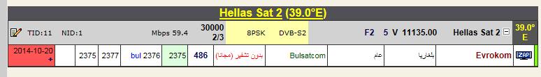 ���� �����Hellas Sat 2 @ 39� East  ���� Evrokom (�������) ��� ����� �����