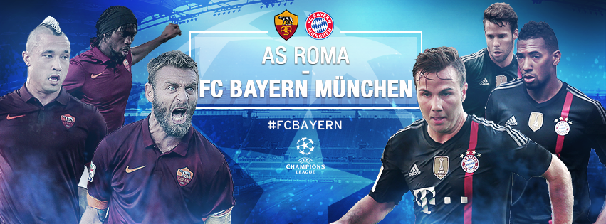 Today 21/10/2014 AS Roma vs Bayern Munich Champions League