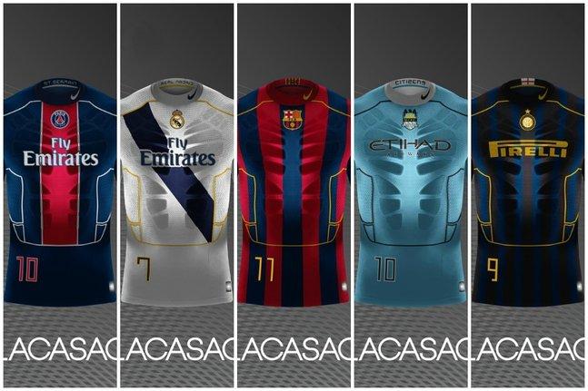 صور قمصان ريال مدريد وبرشلونة في عام 2025