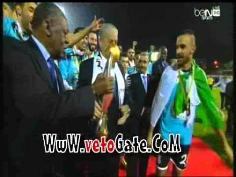 بالفيديو لحظة تتويج وفاق سطيف بكأس دورى ابطال افريقيا 2014