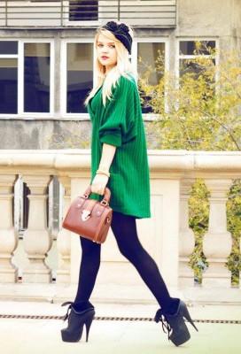 صور أزياء وملابس تريكو بناتية لخريف وشتاء 2014/2015