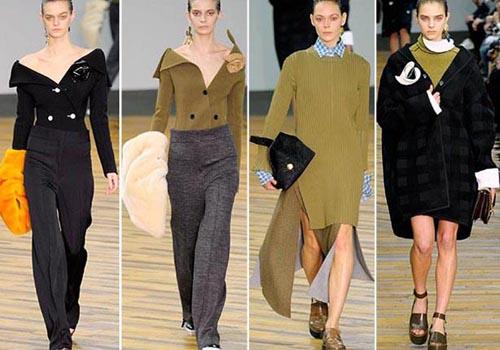 صور أزياء وملابس باللون الكاكي في أسبوع الموضة بباريس خريف وشتاء 2015
