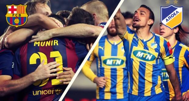 مباشرة موعد مباراة برشلونة وابويل اليوم الثلاثاء 25-11-2014