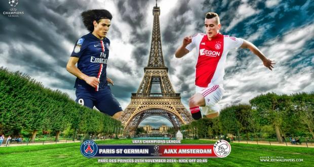 مباشرة موعد مباراة باريس سان جيرمان واياكس اليوم الثلاثاء 25-11-2014