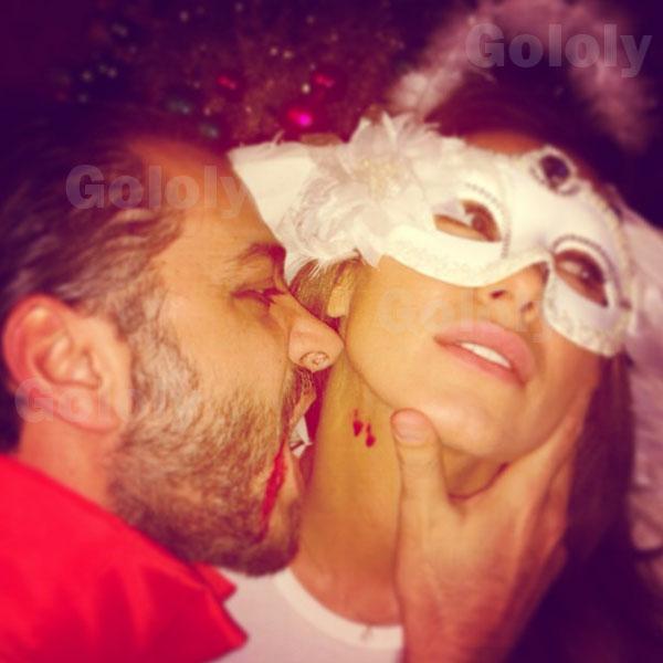 صور نادين الراسي وهي تحتفل بعيد البربارة 2014