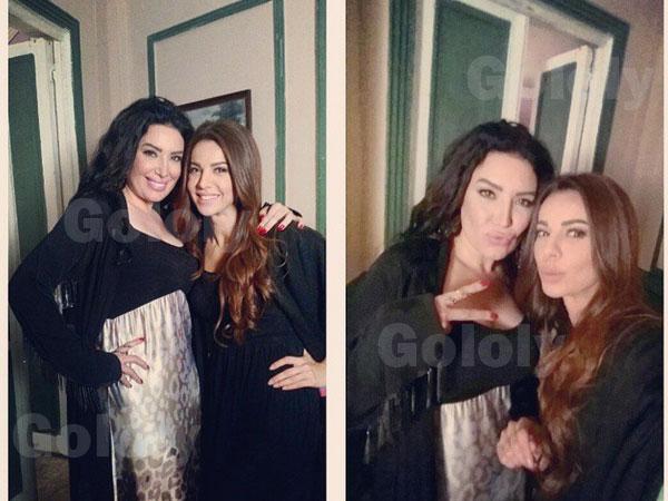 صور فريال يوسف وهي تحتفل بعيد ميلادها مع اصدقائها 2015