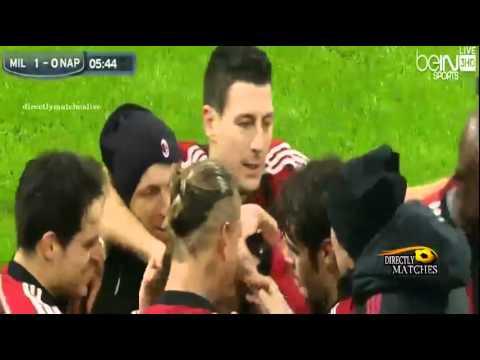 يوتيوب اهداف مباراة ميلان ونابولي اليوم 14-12-2014