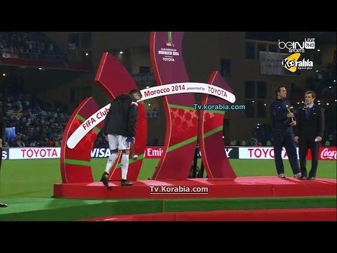 بالفيديو كريستيانو رونالدو يتجاهل ميشيل بلاتينى في نهائى كأس العالم للاندية 2014