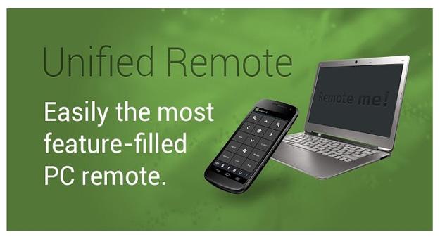 تحميل تطبيق Unified Remote للتحكم بالكمبيوتر 2015 اخر اصدار