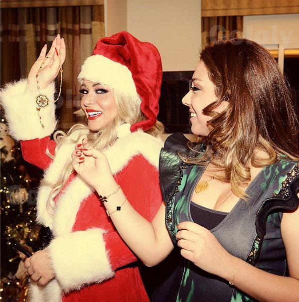 صور مادلين مطر وهي تحتفل بالكريسماس مع عائلتها 2015