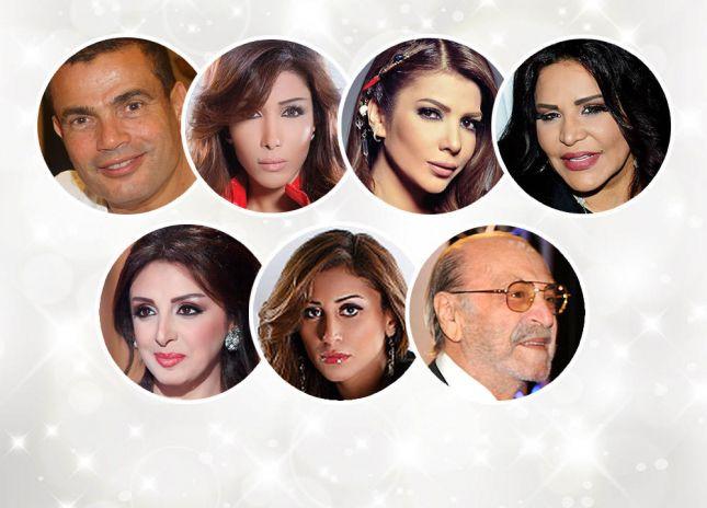 أبرز المشاكل والشائعات الفنية في العالم العربي 2014