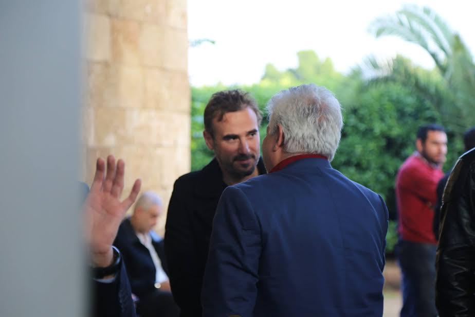 صور نجوم الفن في جنازة محمود سعيد 2015 , صور جنازة الممثل الفلسطيني محمود سعيد 2015