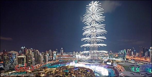 صور إحتفالات برج خليفة دبي بليلة رأس السنة 2015