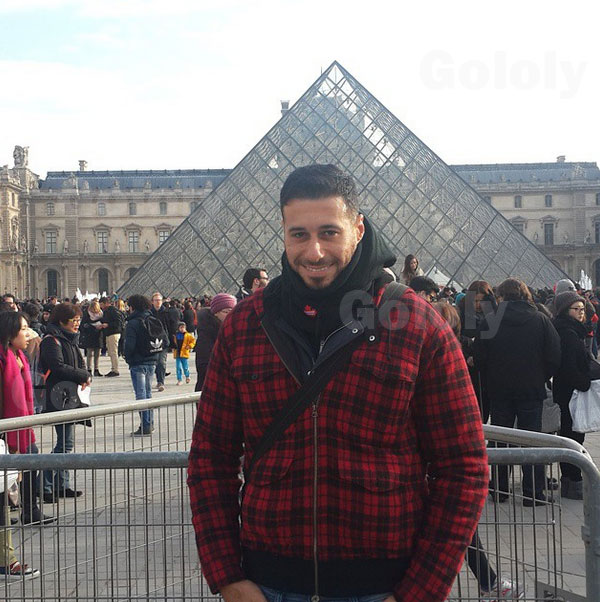 صور أحمد السعدني وهو يستجم في باريس 2015