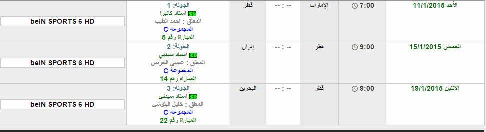مواعيد مباريات المنتخب القطري اسيا 379782_dreambox-sat.