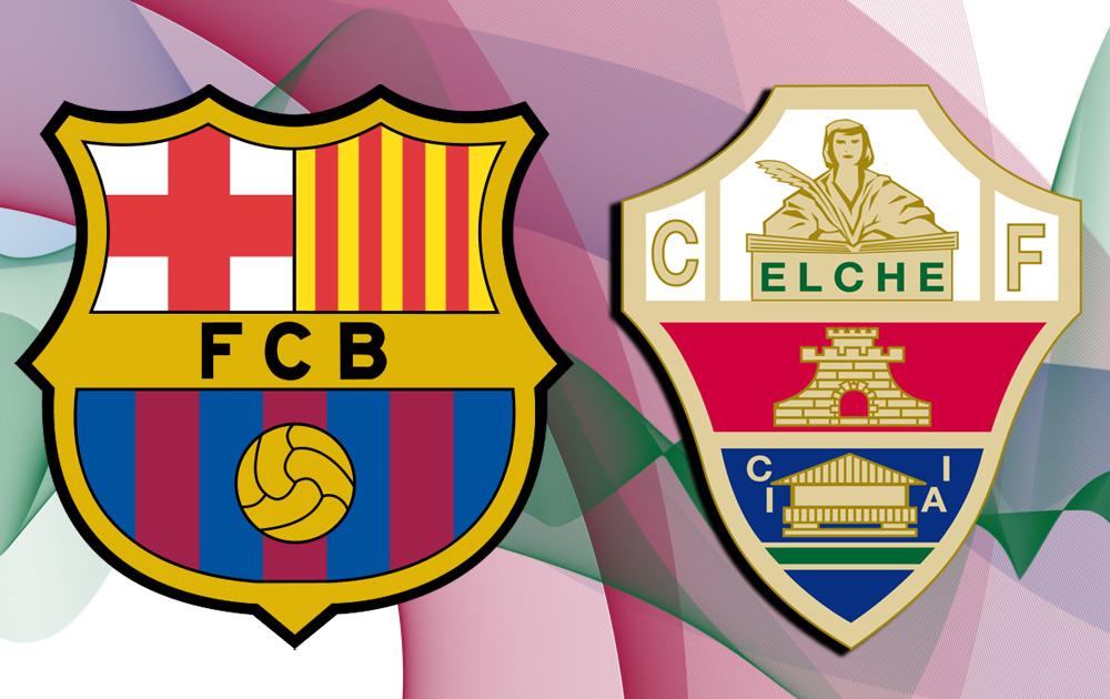 عاجل القنوات الناقلة لمباراة برشلونة وإلتشي اليوم الخميس 15-1-2015