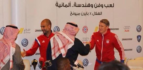 صور لاعبي ونجوم بايرن ميونخ في الرياض 2015