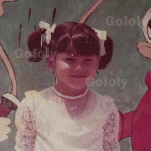 الفنانة التونسية دارين حداد طفلة