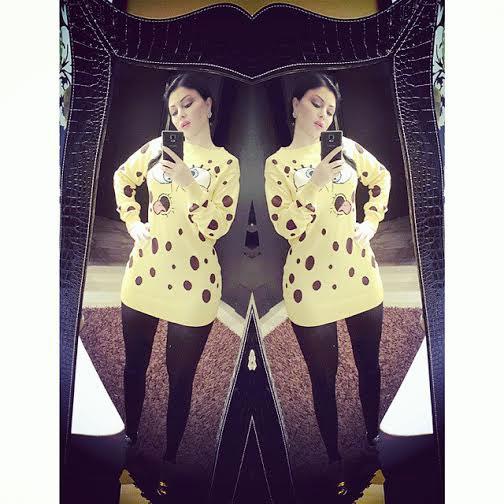 صور هيفاء وهبي بملابس كرتونية مرسوم عليها سبونج بوب 2015