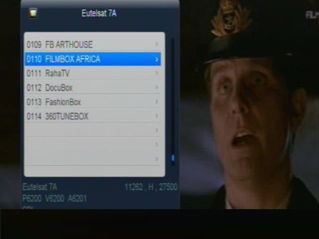 ���� ����� Eutelsat 7A/7B @ 7� East ���� FILMBOX AFRICA ������ ���� �����