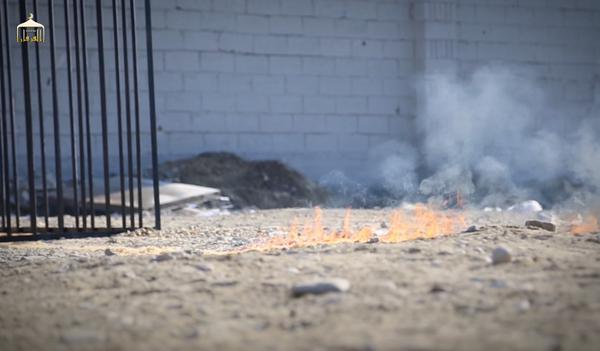 بالفيديو والصور اعدام وحرق الطيار