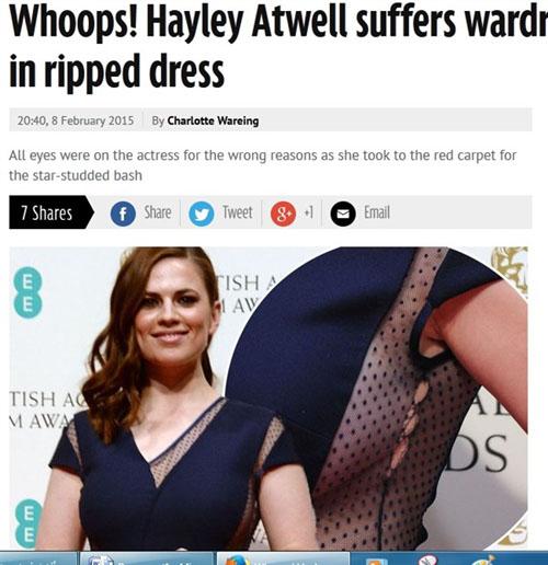 تمزق فستان هايلى أتويل بافيتا