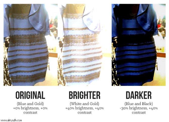 تفاصيل وحقيقة الفستان الذي لونه