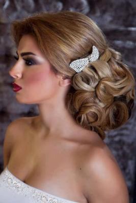 صور قصات شعر طويلة للعرايس 2015 , صور تسريحات زفاف للشعر الطويل 2016