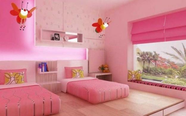 صور غرف نوم بنات باللون الوردي 2015 صور ديكورات وتصاميم غرف نوم