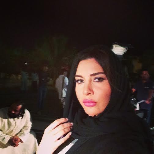 صور لاميتا فرنجية بالعباية والحجاب في مسلسلها الخليجي الجديد 2015