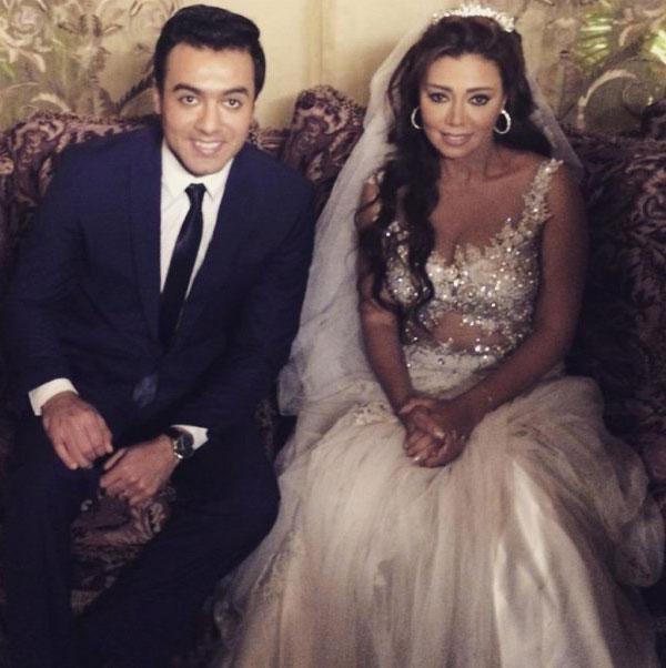 صور رانيا يوسف بفستان زفاف مثير في مسلسل عيون القلب 2015