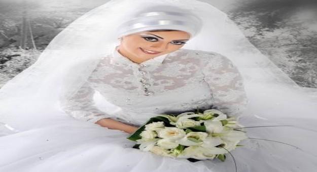 صور فساتين زفاف طويلة للمحجبات موضة ربيع 2015 , أحلى فساتين العرايس المحجبات 2016