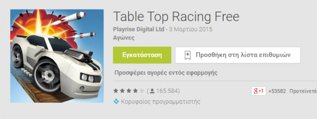 ����� �������� ���� Table Top Racing ������� 2015