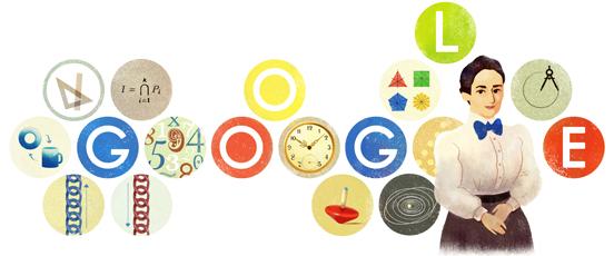 جوجل يحتفل بذكرى ميلاد عالمة الرياضيات إيمي نويثر اليوم الاثنين 23-3-2015
