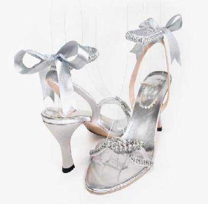 احذية زفاف باللون الفضى 2015