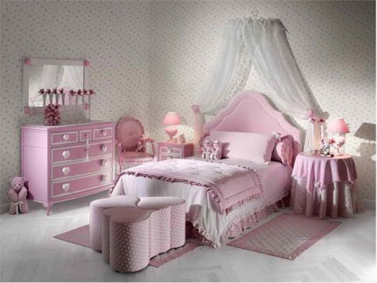 صور ستايل غرف نوم بنات 2015 , غرف نوم بنات رقيقة وهادئة 2016