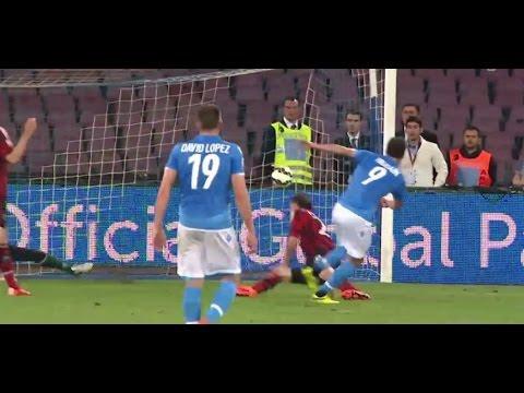 اهداف وملخص مباراة نابولي وميلان اليوم الاحد 3-5-2015 فيديو يوتيوب