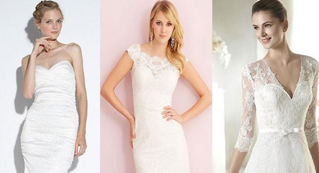 جديد - أجمل فساتين الزفاف القصيرة 2015/2016