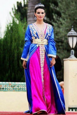 بالصور أجمل تصميمات القفطان المغربى 2015/2016