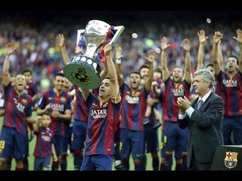 بالفيديو شاهد لحظة تتويج برشلونة