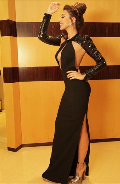 صور ميريام فارس بفستان أسود مثير ساخن 2015