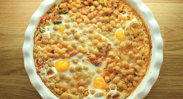 مقادير وطريقة عمل البيض بالحمص 2015