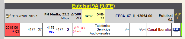 ���� Canal iberalia ��� ����� ����� ����� �������� 3/6/2015