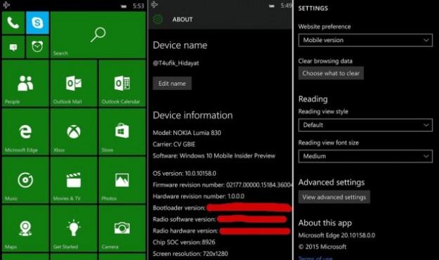 شاهد صور نظام ويندوز 10 على الهواتف الذكية 2015