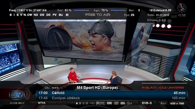 جديد القمر Eurobird 9A 9°E ظهور قناة مجرية رياضية جديدة M4 Sport بدأ