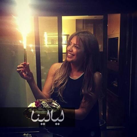 صور أمل بوشوشة وهي تحتفل بعيد ميلادها الـ33