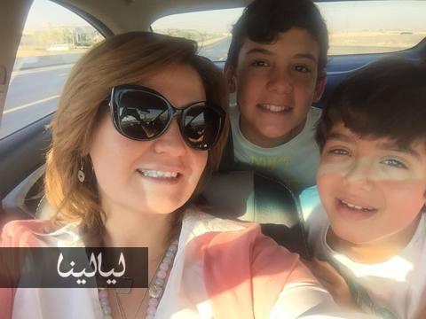 صور هنا شيحة مع أولادها مالك وآدم في عطلة العيد 2015 , صور أولاد هنا شيحة 2016
